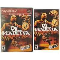 NO GAME Def Jam Vendetta (Sony PlayStation 2, PS2, 2003) Manual & Case Only