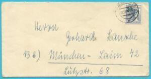 Berlin(West) portorichtiger Brief frankiert mit MiNr.66 von Berlin nach München!