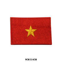 Vietnam National Flag Embroidered Patch Iron on Sew On Badge For Clothe etc