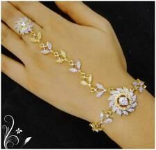 Indian Women Bracelet Gold Plated Openable Bangles Wedding Wear Zircon