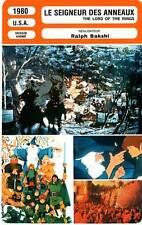 FICHE CINEMA : LE SEIGNEUR DES ANNEAUX - Ralph Bakshi 1980 The Lord of the Rings