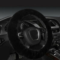 Universal Black Warm Soft Fuzzy Plush Car Auto Steering Wheel Cover For Winter w