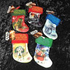 Disney's Star Wars Mini Christmas Stocking Lot - Boba Fett, Darth Vader, Yoda