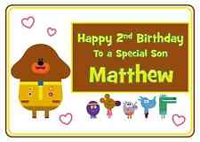 hey duggee personalised A5 birthday card son daughter brother sister name age