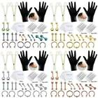 42PCS Professional Piercing Kit 14G 16G Steel Belly Ring Tongue Tragus Lip Nose