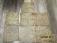 "Vintage Green Patterned Ceiling Tiles 12""x12"""