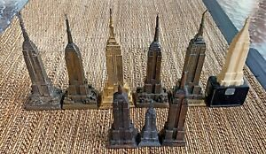 Vintage New York City Metal Empire State Buildings Statues NYC Souvenir