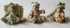 Lot of 3 Calico Kittens Figurines #627976, #627984, #628018 Friends Friendship