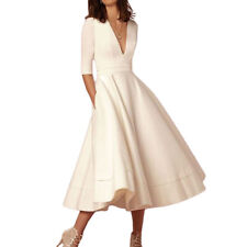 Womens Elegant Ball Gown Dress Female Sexy V Neck Party Long Dresses TP