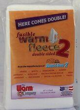"""Fusible Warm Fleece 2 Double Stick - 45"""" x 1 Yard (114cm x 91cm) - Fusible"""
