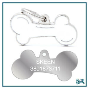 Medaglietta Targhetta Osso per Cane Cani Personalizzata con Incisione Nome