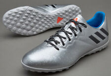 UK SIZE 10 - adidas MESSI 16.4 TF ASTROTURF FOOTBALL TRAINERS - SILVER