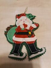 Christmas Kurt S. Adler Felt Fabric Red Santa Ornament 7.5 Inches