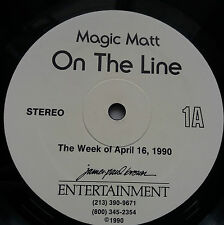 Magic Matt - On The Line Rare US Radio Show Vinyl 2x LP + Cue Sheets Madonna