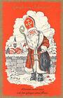 AK Gruß vom Nikolaus, Allerorts wartet man auf den bärtigen Mann  (C1)