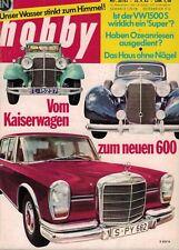 hobby 20/63,20/1963,  VW 1500 S,   MERCEDES 600,   GUT! selten