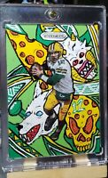 """2020 Panini Prizm Aaron Rodgers CUSTOM """"The PAC Attacks"""" SP #1/1 Packers!"""