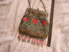 Antique Art Nouveau Flapper Beaded Beads Purse Bag