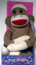 STREET PLAYERS BROWN SOCK MONKEY DOLL NIB SOFT CUDDLE FRIEND