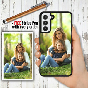 PERSONALISED Custom PHOTO Phone Hard Case + PEN Cover For Samsung S21 Plus Ultra