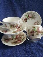Johnson Bros VINTAGE  (Harvest Time) Lot Of 6. Fine Bone China Teacups & Saucers