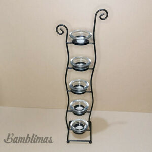 5 Tier Candle Tealight Votive Clear Glass Holder 5 tier Tealight stand Holder
