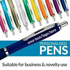 More details for personalised pen novelty office stationary curvy contour colour pens promotional