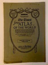 Map world polar 1920 Times Survey Atlas Plates 7,8 & 9 Bartholomew & Sons Pt 35