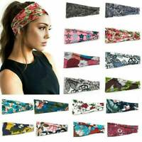 Girl Women Wide Sports Yoga Gym Stretch Cotton Headband Head Hair Band AU