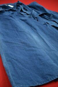 Vintage Japanese Kimono Cotton Boro Indigo Blue Kendou HAKAMA/EV20/1050