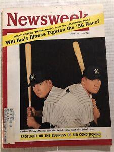 1956 Newsweek NEW YORK Yankees MICKEY MANTLE The Mick ORIGINAL Triple Crown??