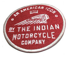 RED INDIAN MOTORCYCLE 1901 IRON ON PATCH - AMERICANA - GREAT QUALITY - RRP £7.50