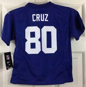 Nike On Field NFL Kids Jersey New York Giants #80 Victor Cruz Blue Sz L (7) New!