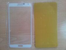 Cristal de Pantalla Color Blanco para Samsung Galaxy Note 3 N9000 + Adhesivo