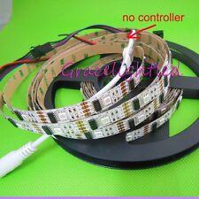 1M WS2801 White PCB 32LED 5050 RGB Digital LED Strip Individually Addressable 5V