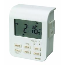 Woods-Indoor 7Day Hvy Duty Digital Outlet Timer,2-Outlets,Programmable,White