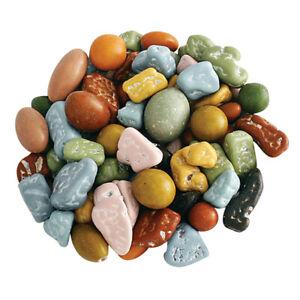 CHOCOLATE ROCKS - Choco Rocks Regular MIX -Candy Coated - BULK - 1 LB Bag -FRESH