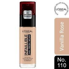 L'Oreal Paris Infallible 24hr Freshwear LiquidFoundation 110 VanillaRose, SPF 25