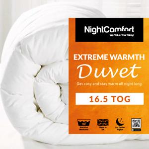 16.5 Tog Duvet EXTREME Warm Duvet Winter Quilt Single/Double/King Size