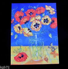 Leanin Tree Thank You Butterfly Snail Flowers Greeting Card Multi Color R296