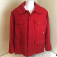 Vtg Woolrich Mackinaw Cruiser Hunting Jacket Red 46R Has Issues See Description