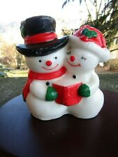 Vintage Christmas Candle- Snowmen- Mr. And Mrs. Frosty the Snowman ~ 4.75� H