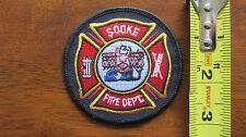 SOOKE FIRE INCENDIE PATCH ECUSSON BRITISH COLUMBIA BC CANADA CANADIAN