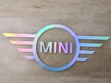 Mini Cooper Schriftzug • Hologramm • Emblem • Aufkleber Oil slick Sticker Logo