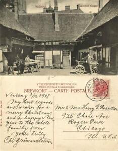 denmark, AALBORG ÅLBORG, Gammel Gaard (1908) Postcard
