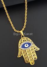 Fatimas Hand Kette Nazar Evil Eye Halskette 24 Karat Gold GP Hamza Fatima Hamsa