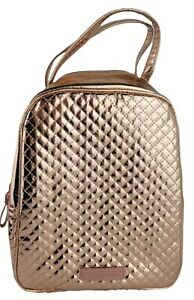 Vera Bradley Iconic Rose Gold Shimmer Quilted Lunch Bunch Bag