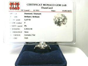 BAGUE DIAMANTS ./ Diamond ring in 18K white gold.