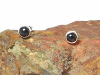 GARNET  Gemstone   Sterling  Silver  925  Earrings / STUDS  -  6 mm