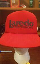 vintage Laredo western Boots truckers snap back hat